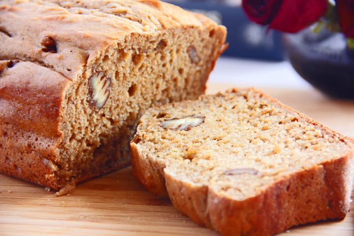 stevia banan brød